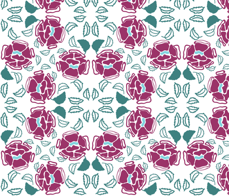 Beautiful Roses fabric by atwinso on Spoonflower - custom fabric