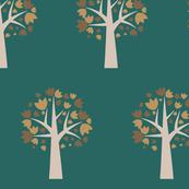 Autumn Leaves, large repeating tree