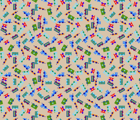 trainscatter fabric by mojiarts on Spoonflower - custom fabric