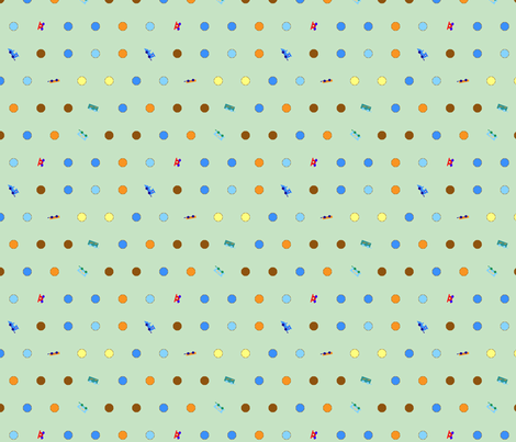 traindots4 fabric by mojiarts on Spoonflower - custom fabric