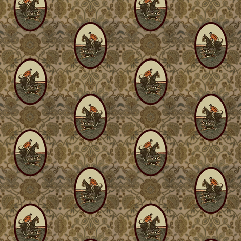 Hunt Medallions fabric by ragan on Spoonflower - custom fabric