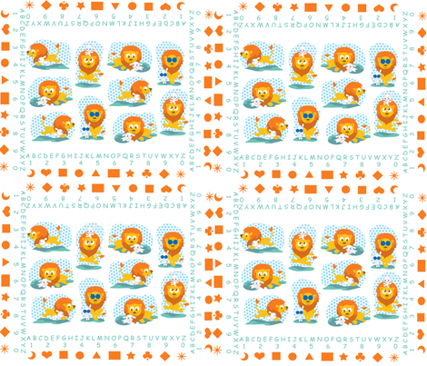 MATERNAL_LION_MINI fabric by scifiwritir on Spoonflower - custom fabric
