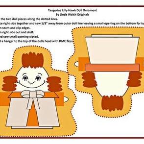 Tangerine Lilly Hawk Cut and Sew Doll Ornament