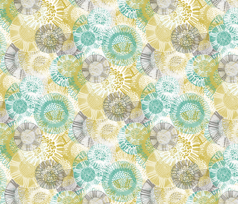 Multi Doodle Floral fabric by kezia on Spoonflower - custom fabric