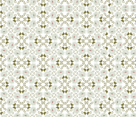 roses set fabric by atwinso on Spoonflower - custom fabric