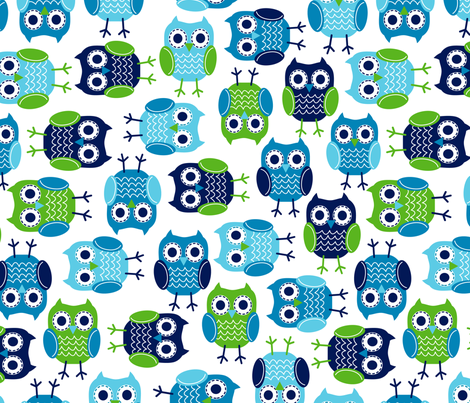 jb_kindergarten_owls_1 fabric by juneblossom on Spoonflower - custom fabric