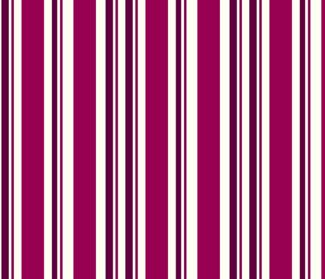 Cranberry Stripes fabric by thepinkhome on Spoonflower - custom fabric