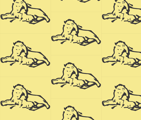 lamb&lion fabric by signe9900 on Spoonflower - custom fabric