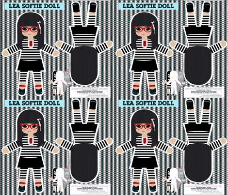 Harajuku play softie dolls fabric by katarina on Spoonflower - custom fabric