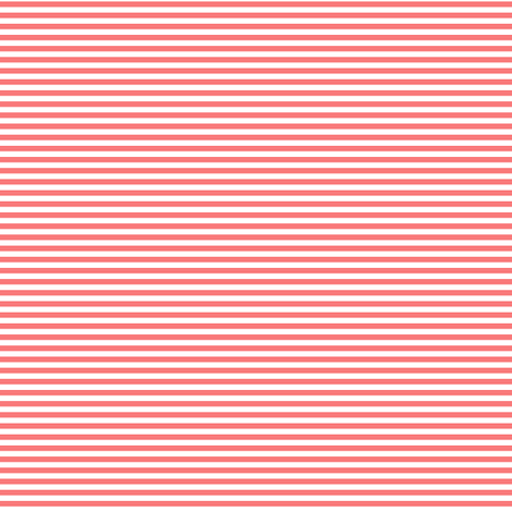 pinstripes coral and white fabric by misstiina on Spoonflower - custom fabric