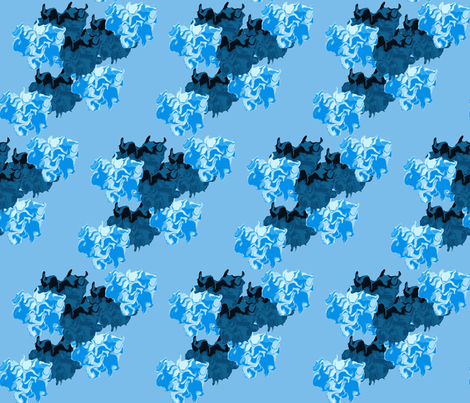 Blue Smoke fabric by anniedeb on Spoonflower - custom fabric