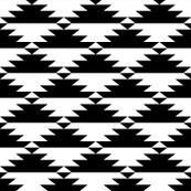 Black & White Tribal (horizontal)
