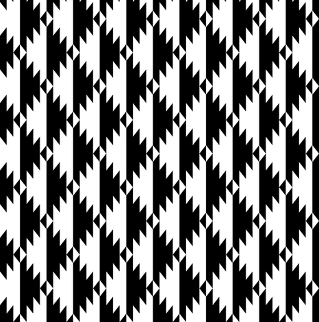 Black & White Tribal (small) fabric by kimsa on Spoonflower - custom fabric
