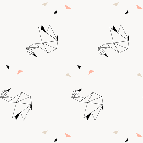 Swans (vertical) fabric by kimsa on Spoonflower - custom fabric