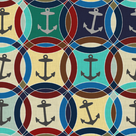 anchors fabric by scrummy on Spoonflower - custom fabric