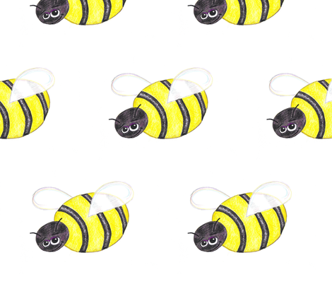 Big Bumble Bee fabric by lorigrace on Spoonflower - custom fabric