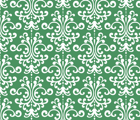 damask lg green and white fabric by misstiina on Spoonflower - custom fabric