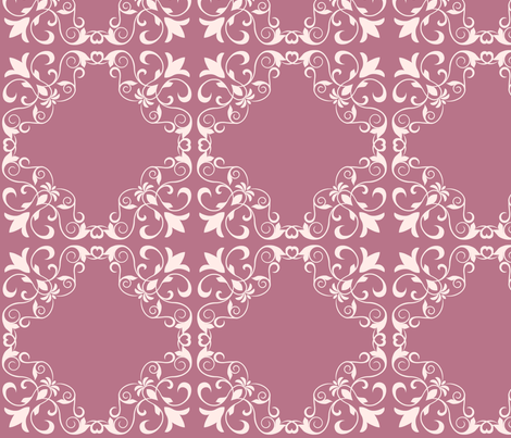 Mauve Garden Lattice fabric by thepinkhome on Spoonflower - custom fabric