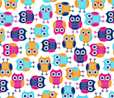 jb_kindergarten_owls_3 fabric by juneblossom on Spoonflower - custom fabric
