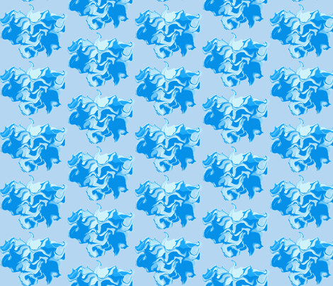 Puffs of Blue fabric by anniedeb on Spoonflower - custom fabric