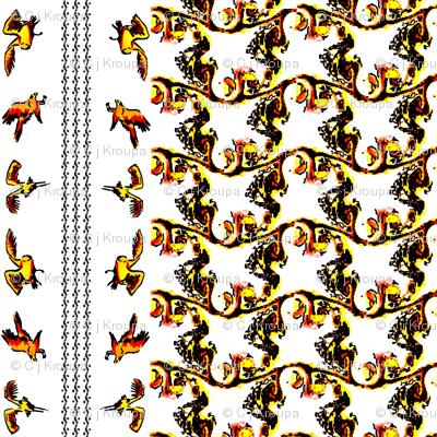 Swirly Birds (Bright)