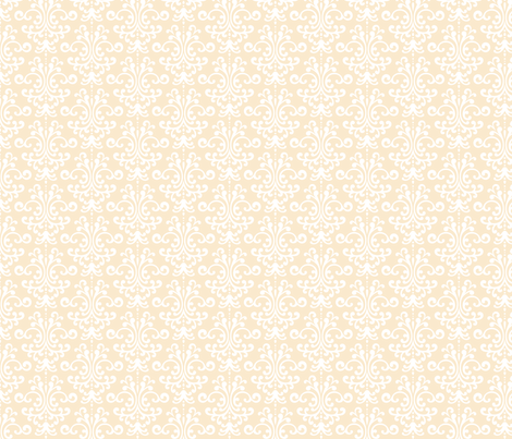 damask ivory fabric by misstiina on Spoonflower - custom fabric