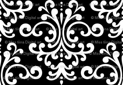 damask black