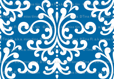 damask royal blue