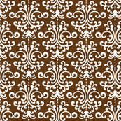 damask brown and white