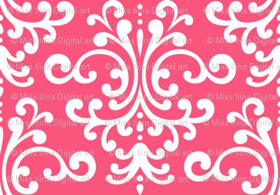 damask hot pink