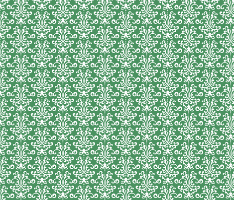 damask green and white fabric by misstiina on Spoonflower - custom fabric