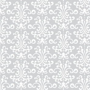 damask light grey and white