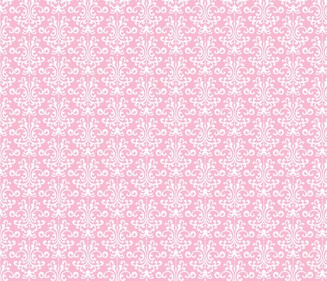 damask light pink and white fabric by misstiina on Spoonflower - custom fabric