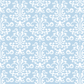 damask powder blue and white