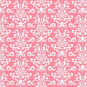 damask pretty pink and white