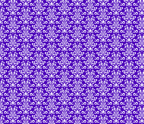 damask purple and white