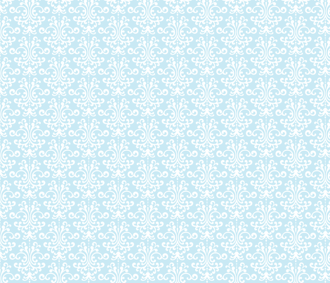 damask ice blue fabric by misstiina on Spoonflower - custom fabric