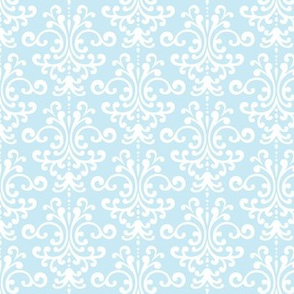 damask ice blue