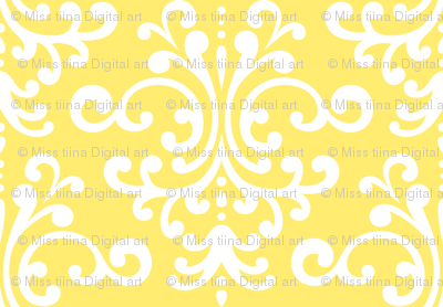 damask lemon yellow
