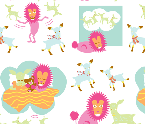 midrez_newlion_repeater-ch-ch fabric by mcuetara on Spoonflower - custom fabric