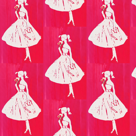 I'm a Barbie Girl Red fabric by bettinablue_designs on Spoonflower - custom fabric