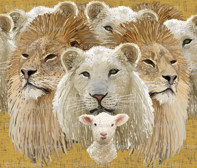 Lions led by a lamb by Su_G