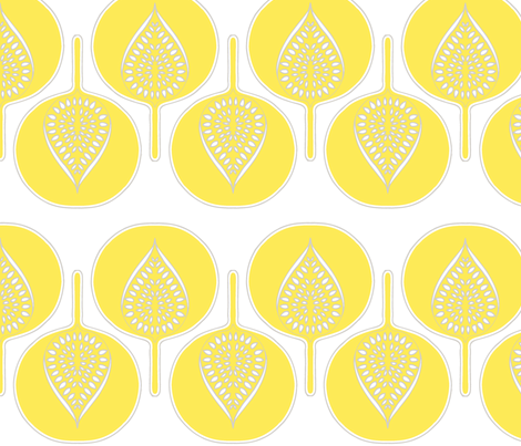 tree_hearts_light_yellow_white_lt_grey fabric by holli_zollinger on Spoonflower - custom fabric