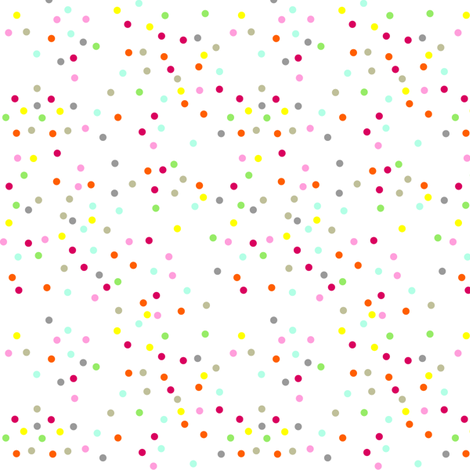 Polka Dot Circles. Multi-coloured. fabric by halfpinthome on Spoonflower - custom fabric