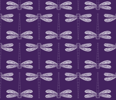 dragonfly directional in iolite fabric by chantae on Spoonflower - custom fabric