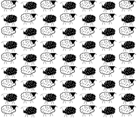 A Flock of Sheep fabric by anniedeb on Spoonflower - custom fabric