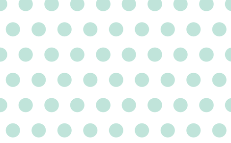 giant polka reversed mint fabric by myracle on Spoonflower - custom fabric