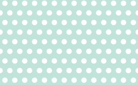 giant polka mint fabric by myracle on Spoonflower - custom fabric