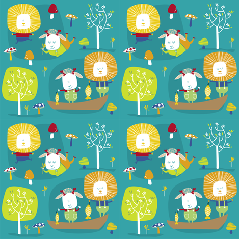 springs-a-comin' fabric by laura_the_drawer on Spoonflower - custom fabric