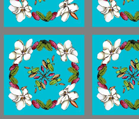 Magnolias fabric by adr_designs on Spoonflower - custom fabric